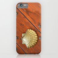 iPhone & iPod Case featuring Gold shell by Marieken