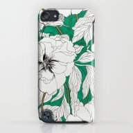 Green Peonies iPod touch Slim Case