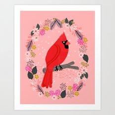 Northern Cardinal by Andrea Lauren  Art Print