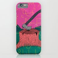 iPhone Cases featuring Chop by Arron Croasdell