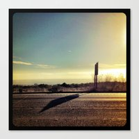 Driving to San Diego. Canvas Print
