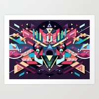 BirdMask Visuals - Sparr… Art Print
