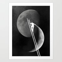 Light Side of the Moon Art Print
