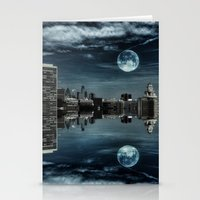 Night in the Reflection Stationery Cards