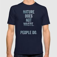 waste Mens Fitted Tee Navy SMALL