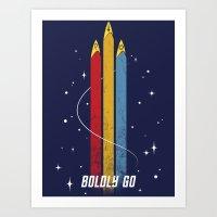 Star Trek - Boldly Go Art Print
