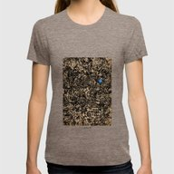- Obstacle - Womens Fitted Tee Tri-Coffee SMALL
