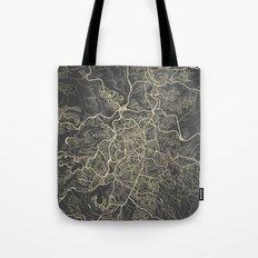 Jerusalem Map Tote Bag