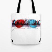 3D City Tote Bag