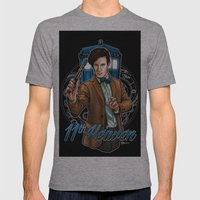 11th Heaven Doctor Who Mens Fitted Tee Athletic Grey SMALL