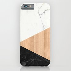 Marble and Wood Abstract iPhone 6s Slim Case