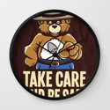 Take Care  Wall Clock