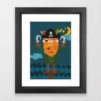 Captain Foodbeard Framed Art Print