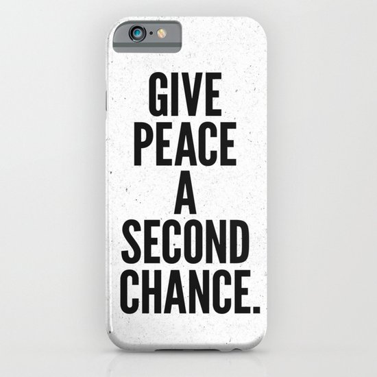 Give Peace a Second Chance. iPhone & iPod Case