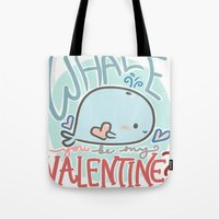 Whale You Be My Valentine Tote Bag
