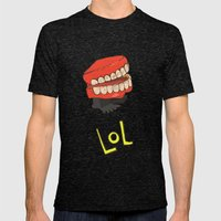 lol Mens Fitted Tee Tri-Black SMALL