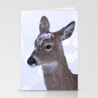 Peaceful Winter Doe Stationery Cards
