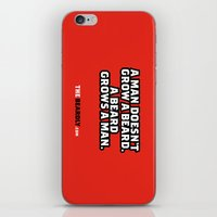 A MAN DOESN'T GROW A BEA… iPhone & iPod Skin