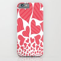 iPhone & iPod Case featuring Bursting Hearts by Art Tree Designs