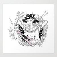 Art Angels Art Print