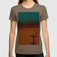 Bird On A Wire Womens Fitted Tee Tri-Coffee SMALL