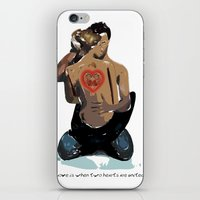 Love is when two hearts are united... iPhone & iPod Skin