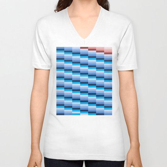 Fuzz Line #1 V-neck T-shirt