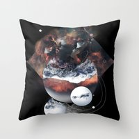 Crystal Nebula Throw Pillow