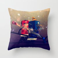 Amateurs Throw Pillow