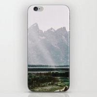 Afternoon Sun Over Teton Mountains iPhone & iPod Skin