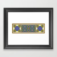 Emerald, Gold and Lapis Framed Art Print