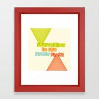 Everything . . Framed Art Print