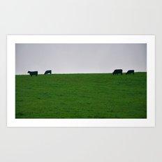 Minimal Cows Art Print