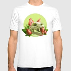 Strawpurry SMALL White Mens Fitted Tee