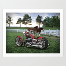#KevinHarvick  #NASCAR V-8 Bike Art Print