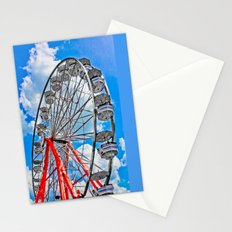Red, White & Blue Ferris Wheel at the Fair Stationery Cards