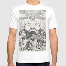 ACTION BRONSON SMALL Mens Fitted Tee White