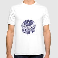 Tea cake (blue) SMALL White Mens Fitted Tee