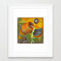 DickBot Attacked by BitchBot Framed Art Print