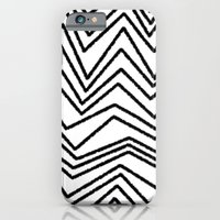 iPhone & iPod Case featuring Graphic_Chevron freehand by Anna Rosa