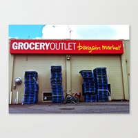 Canvas Print featuring Grocery Outlet by Vorona Photography