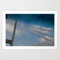 Georgia/South Carolina Bridge Art Print