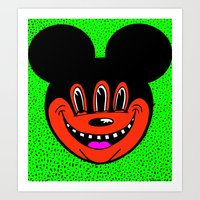 MICKEYES. (Pink Tongue). Art Print