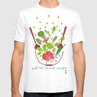 just ad oil and vinegar 2 Mens Fitted Tee White SMALL