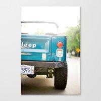 Jeep Scrambler Summer Canvas Print