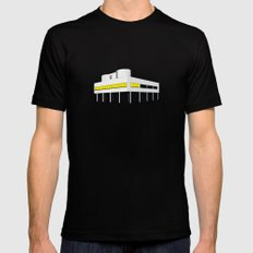 Villa Savoye, Le Corbusier - modern architecture series  SMALL Mens Fitted Tee Black