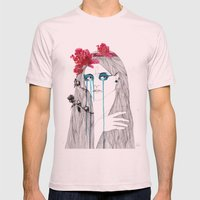 Painted Eyes Mens Fitted Tee Light Pink SMALL