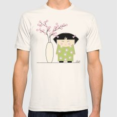 Little Asian Girl Mens Fitted Tee Natural SMALL