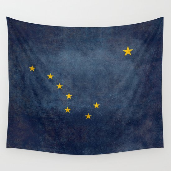 "Alaskan State Flag, ""Distressed version"" Wall Tapestry by Bruce ..."