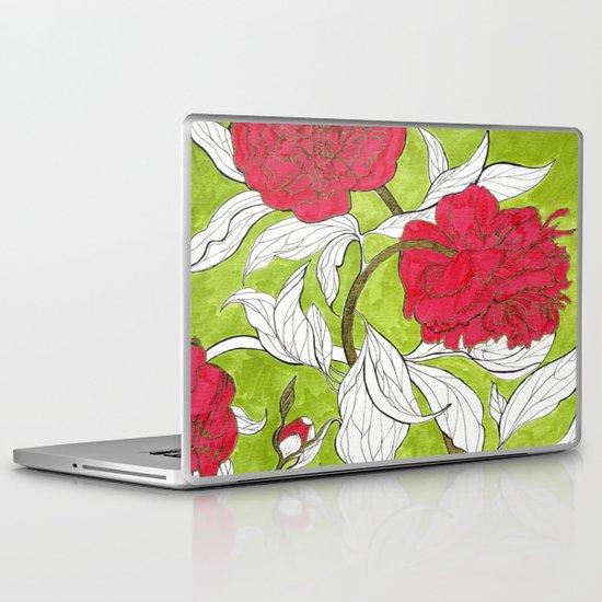 red peonies Laptop & iPad Skin
